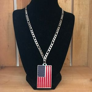 Men's American Flag Necklace